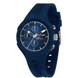 【送料無料】orologio sector speed r3251514003 watch uomo gomma blu multifunzione