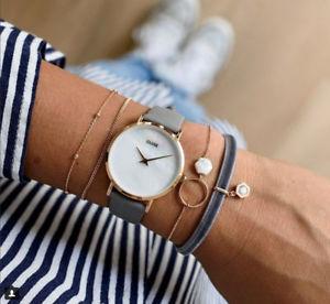 【送料無料】orologio cluse cl30049 minuit la perle pelle grigia oro rosa 33mm madreperla