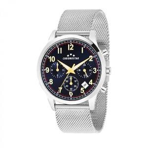 【送料無料】orologio multifunzione uomo chronostar by sector romeow r3753269003 acciaio
