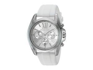 【送料無料】michael kors womens chronograph bradshaw white silicone strap watch 43mm mk2651