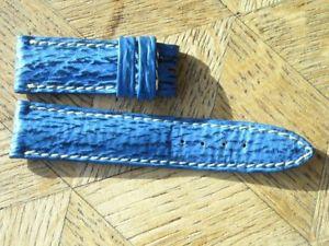 【送料無料】mdg vintage nos breitling 18 mm blue mini leather strap n7