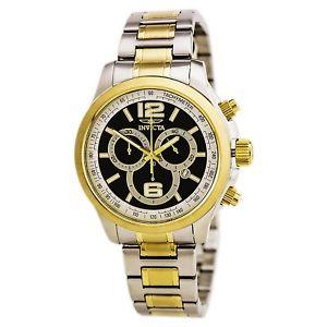 【送料無料】invicta 0080 gents specialty two tone bracelet chrono watch