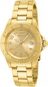 【送料無料】invicta ladys 15249 yellow gold steel pro diver dive watch