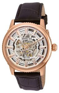【送料無料】invicta objet d art 22612 mens round analog automatic rose gold tone watch
