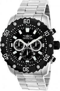 【送料無料】invicta mens pro quartz diver chrono 100m stainless steel watch 22516