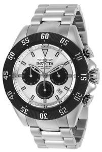 【送料無料】invicta speedway 22392 mens silver tone round chronograph date analog watch