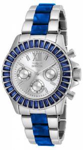【送料無料】invicta womens angel chronograph crystal accented stainless steel watch 18869