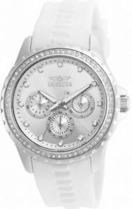 【送料無料】invicta angel 21899 womens round clear stone day date 24 hr analog watch