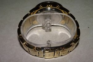 guess chronograph goldtone crystals women stainless steel watch 40mm u0141l3