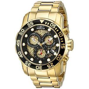 【送料無料】invicta pro diver 19837 stainless steel chronograph watch