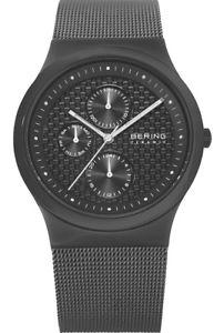 【送料無料】bering mens chronograph grey ceramic stainless steel watch 32139222