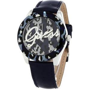 【送料無料】orologio donna guess temptress w0455l1 pelle blu maculato glitter