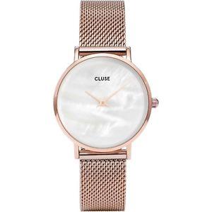 【送料無料】orologio cluse cl30047 minuit la perle donna mesh oro rosa 33mm madreperla medio