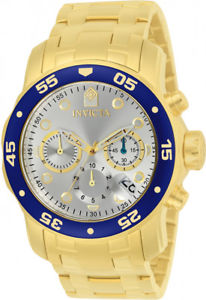 invicta mens pro diver chrono 200m gold plated stainless steel watch 80067