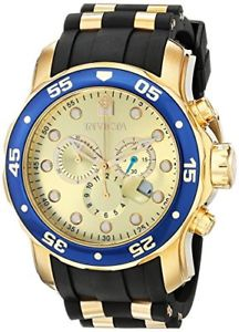 invicta mens pro diver chrono 200m stainless steel polyurethane watch 17881