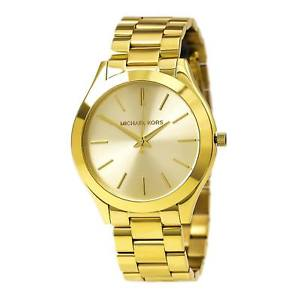 【送料無料】michael kors mk3179 womens slim runway gold plated steel quartz watch