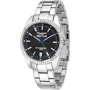 【送料無料】orologio uomo sector 240 r3253476001 bracciale acciaio nero sub 50mt