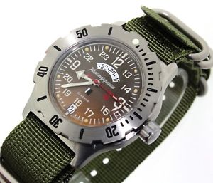 【送料無料】vostok komandirskie k35 russian military watch 24 hourse 350754
