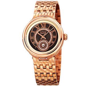 【送料無料】womens burgi bur164rg swarovski crystal mother of pearl date bracelet watch