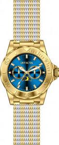 invicta mens pro diver quartz chrono 100m two tone s steel mesh watch 24993