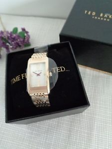 【送料無料】bnwt ted baker ladies gold stainless steel bracelet strap watch 10031189