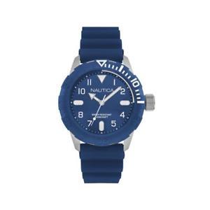 orologio uomo nautica nad09517g silicone blu sub 100mt