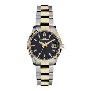【送料無料】orologio donna lorenz 027067cc acciaio bicolor gold dorato nero sub 50mt