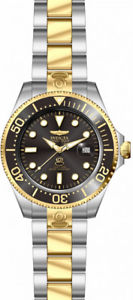 【送料無料】invicta mens pro diver automatic 300m two tone stainless steel watch 27614