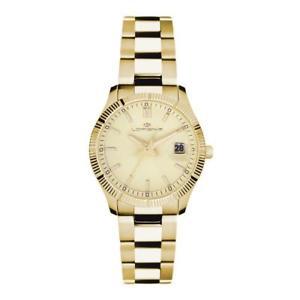 【送料無料】orologio donna lorenz 030016cc bracciale acciaio gold dorato sub 50mt