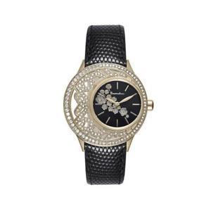 【送料無料】orologio donna braccialini brd 507s1nn pelle nero gold dorato swarovski