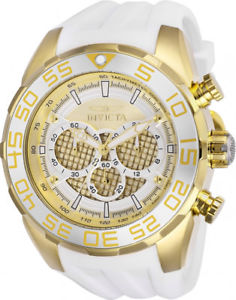 【送料無料】invicta mens speedway chrono 100m stainless steelwhite silicone watch 26303