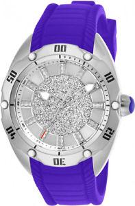 【送料無料】invicta womens venom quartz 100m stainless steelpurple silicone watch 26151