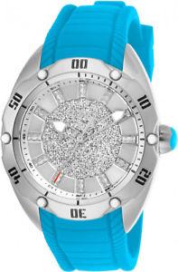 【送料無料】invicta womens venom quartz 100m stainless steelblue silicone watch 26152
