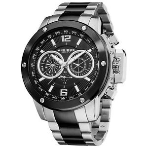 【送料無料】mens akribos xxiv ak604ssb swiss quartz multifunction stainless steel watch