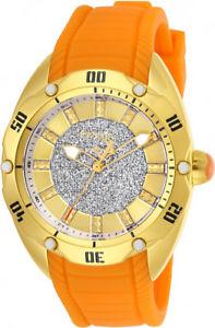 【送料無料】invicta womens venom quartz 100m stainless steelorange silicone watch 26149