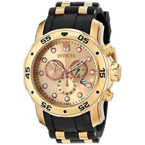 【送料無料】invicta pro diver 17884 stainless steel, polyurethane chronograph watch