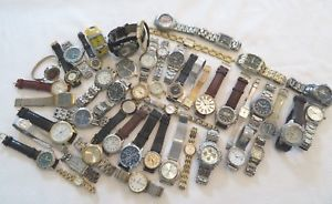 lot of mens and womens quartz wristwatches