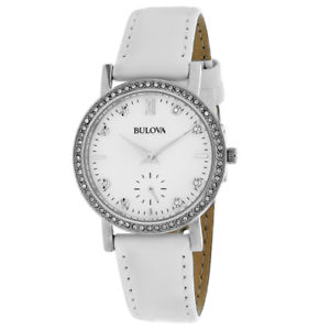【送料無料】bulova womens crystal 30m quartz stainless steel watch 96l245