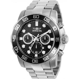 invicta mens 50mm pro diver quartz chronograph stainless steel watch 22226