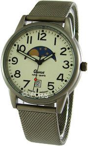 garde ruhla herrenuhr mit mondphase und datumsanzeige real moonphase watch 37mm