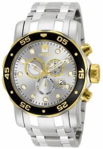 【送料無料】invicta 80040 mens pro diver scuba swiss chronograph stainless steel watch