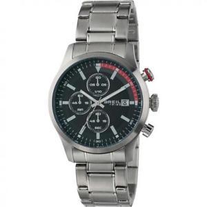 【送料無料】orologio uomo breil tribe drift ew0411 chrono bracciale acciaio nero rosso 50mt