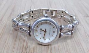【送料無料】ecclissi sterling silver womens wristwatch link bracelet 558grams ~ 18i4093