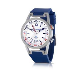 【送料無料】orologio uomo piquadro po123 gmt silicone blu fuso orario made in italy fiv