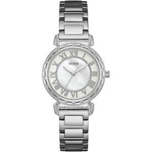 orologio donna guess south hampton w0831l1 bracciale acciaio swarovski bianco