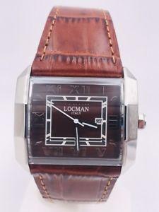 【送料無料】orologio locman ref232bb acciaio cinturino pelle 550 37mm scontatissimo