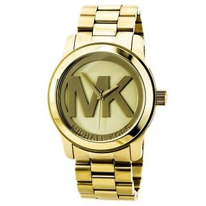 【送料無料】neues angebotmichael kors mk5473 womens runway gold plated stainless steel quartz watch