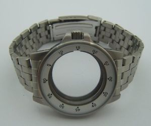 【送料無料】boitier avec bracelet en acier pour eta 28242 swiss made
