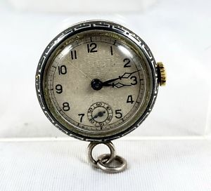 neues angebotswiss silver pendant watch with niello decoration *** pre 1933 ***