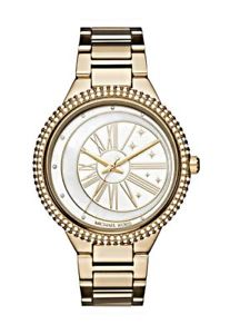 【送料無料】nwt michael kors taryn gold tone crystal bracelet watch mk6550